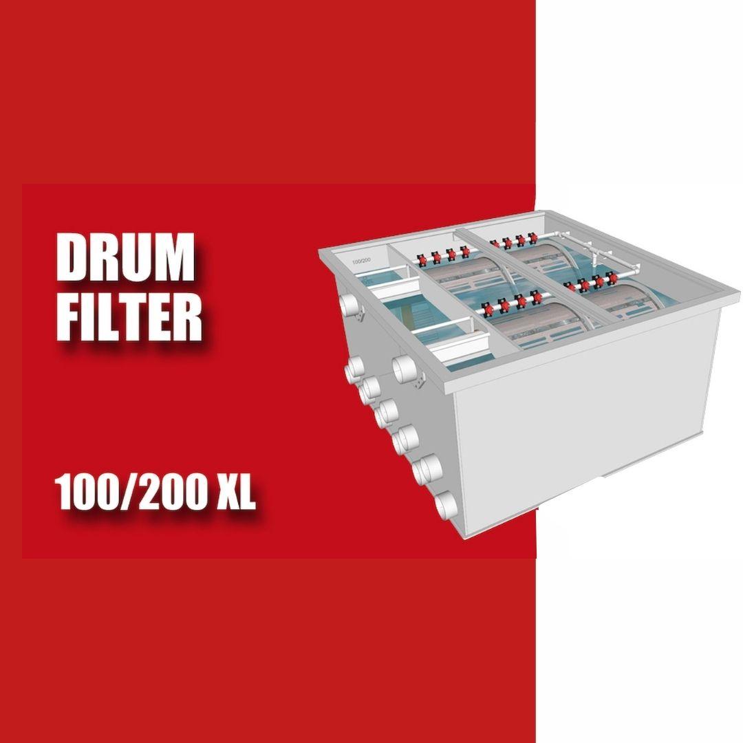Brabant Koi filtersystemen - Drum Filter 100200 XL specificaties voor