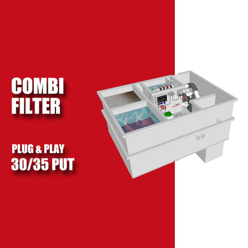 Brabant Koi filtersystemen - Redlabel Drumfilter plug&play 30-50 PUT
