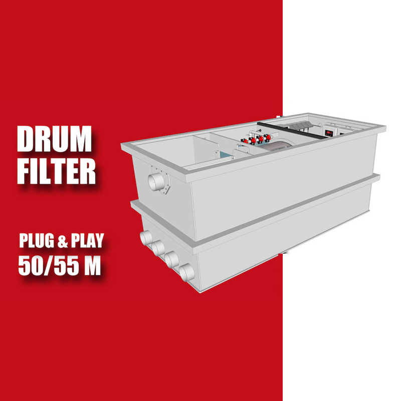 Brabant Koi filtersystemen - Redlabel Drumfilter plug&play 50-55 M 1