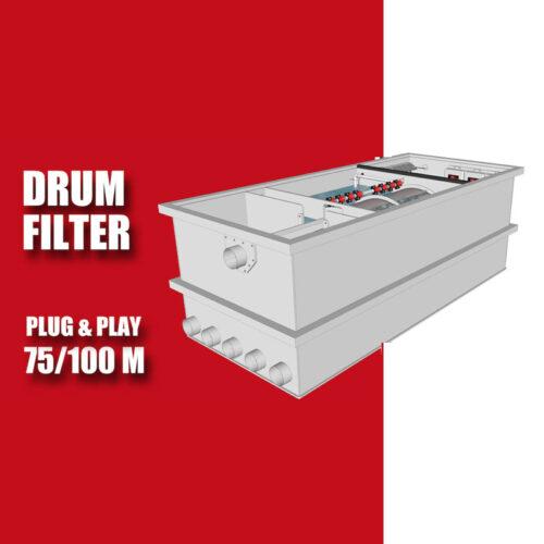 Redlabel Drumfilter plug&play 75-100 M