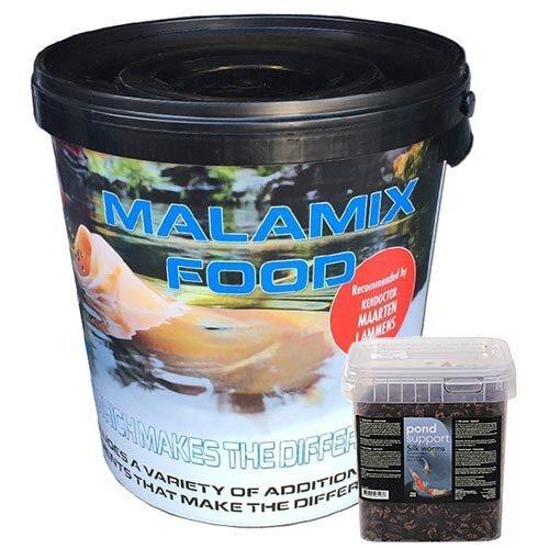 Malamix Food 7 KG en Zijderupsen 3 ltr